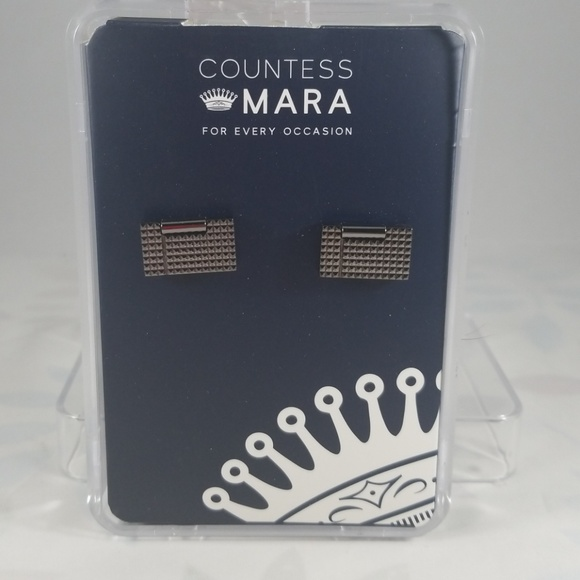 Countess Mara Other - Countess Mara Textured Gunmetal Cufflinks